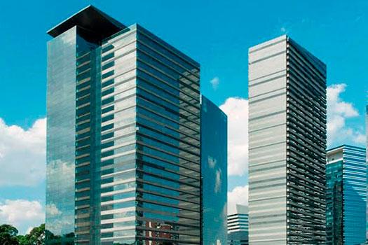 Visualização do conjunto de edifícios